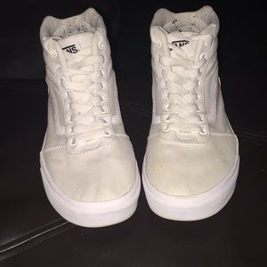 Vans white 'ward' style high tops .